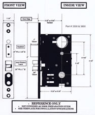 Mortise lock specifications