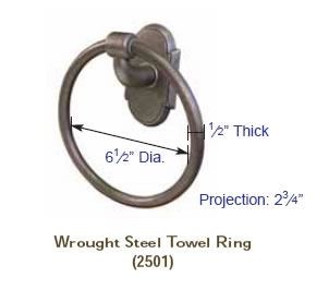 Emtek Wrought Steel Bar Style Paper Holder Specs