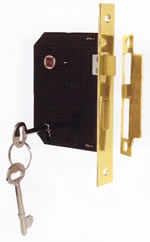 Example of a skeleton key mortise box