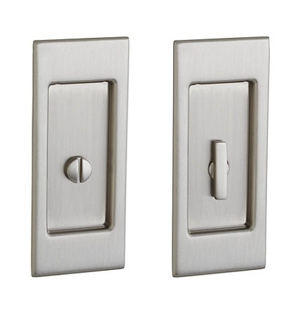 Baldwin Small Santa Monica Style Mortise Pocket Door Lock