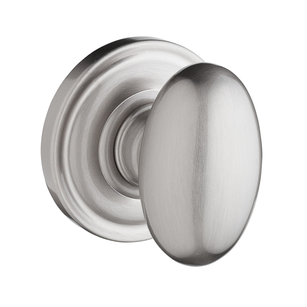Baldwin Reserve Ellipse Knob Satin Nickel