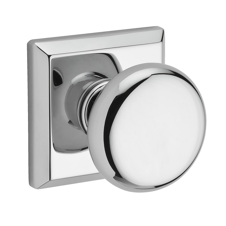 Baldwin Reserve Round Knob Polished Chrome