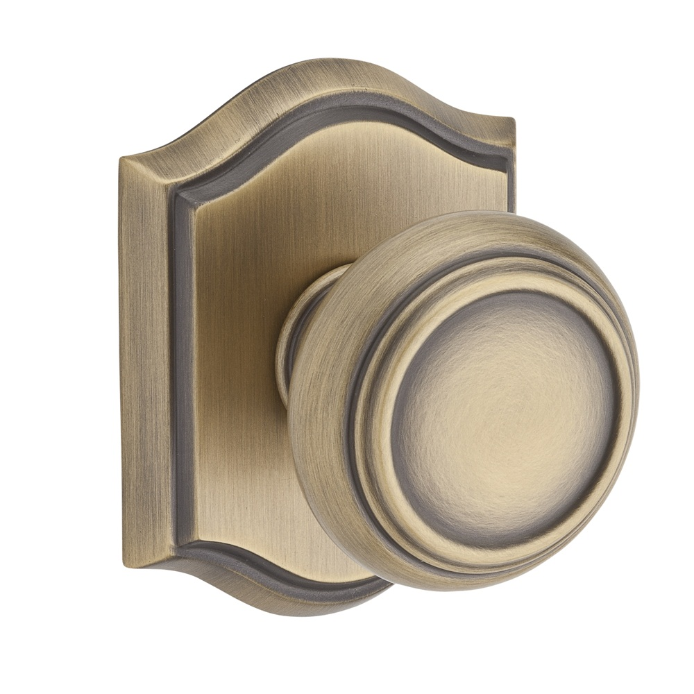 Baldwin Reserve Traditional Knob Matte Brass and Black