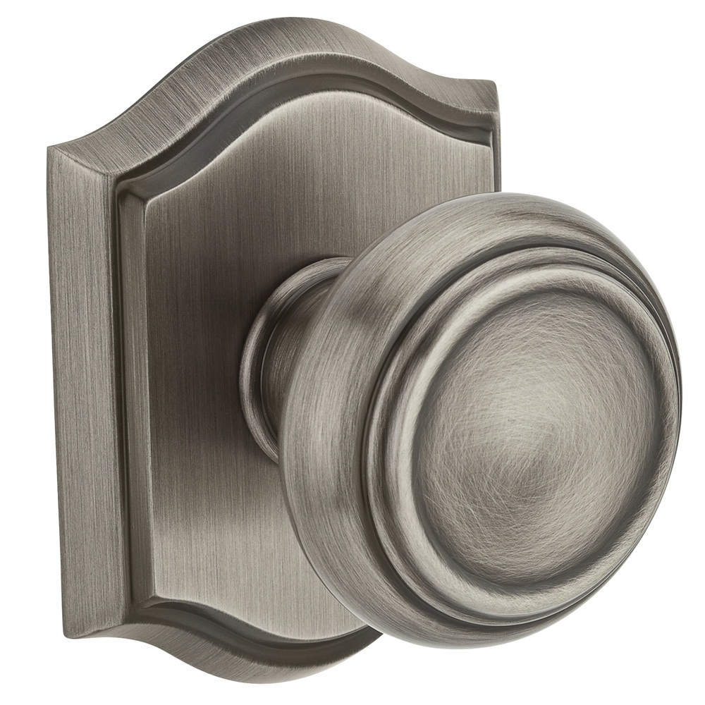 Baldwin Reserve Traditional Knob Matte Antique Nickel
