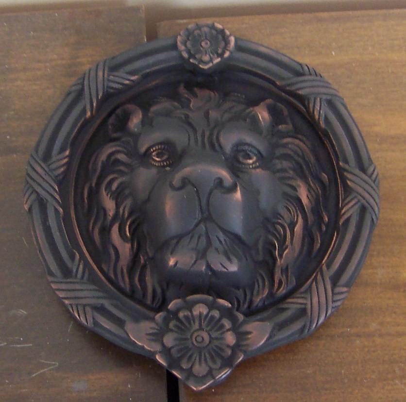 Brass accents lions head door knocker - Large lion head door knocker ...