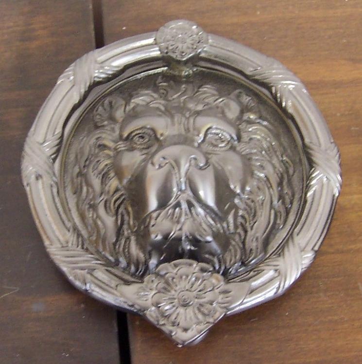 Description. Brass Accents Lion Head Door Knocker - Brass Accents Lions Head Door Knocker