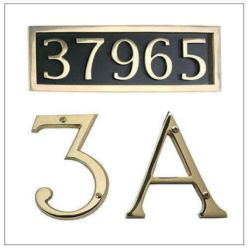 House Numbers By Brass Accents