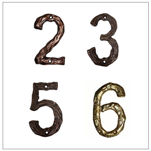Solid Cast House Numbers