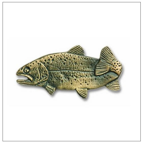 Buck snort lodge fish cabinet hardware for Fish drawer pulls