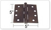 5 Inch Ball Bearing Door Hinges