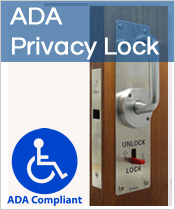 ADA approved pocket door hardware