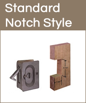 Notched out Pocket Door Hardware