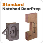 Standard Door Prep Pocket Door Locks