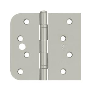 Deltana 5/8 Inch Radius x Square Corner Steel Door Hinge - 4 x 4 Inch