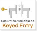 See all lever handles available as a keyed entry