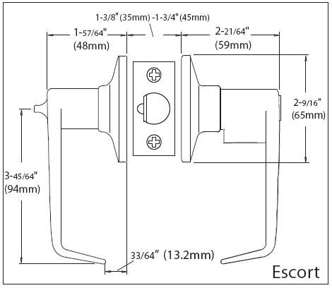 Ezset Door Hardware Escort Lever Handle