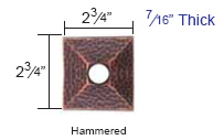 Emtek Hammered Rosette Measurements