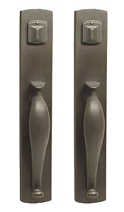 Emtek Door Hardware   Emtek Sandcast Creston Grip By Grip Entrance Handleset