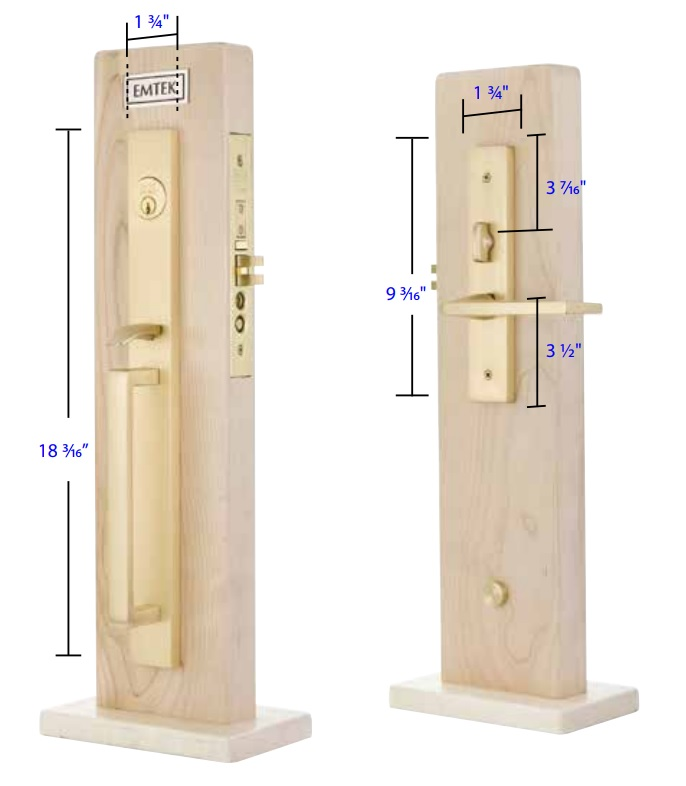 Emtek Adelaide Mortise Entrance Handleset Measurements