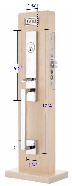 Emtek Brisbane Mortise Entrance Handleset Measurements