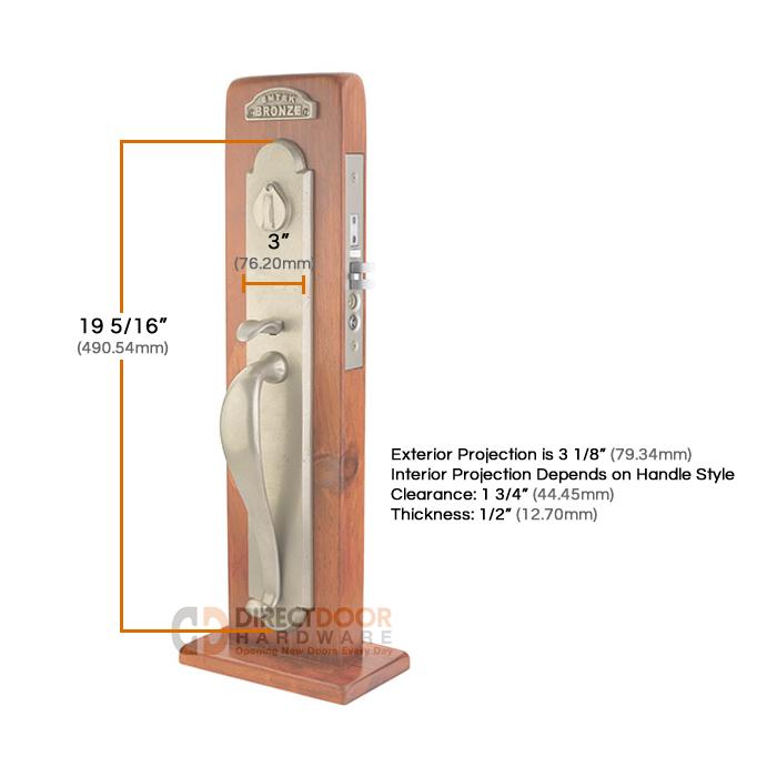 Emtek Door Hardware Emtek Topeka Mortise Entry Handleset