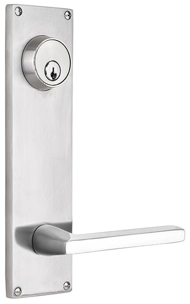 Emtek Stainless Steel 9 Inch Modern Keyed Sideplate Lock