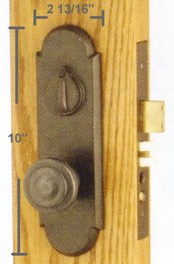 Emtek Cheyenne Mortise Sideplate Locks