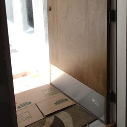 Kickplate Installed On The Door.
