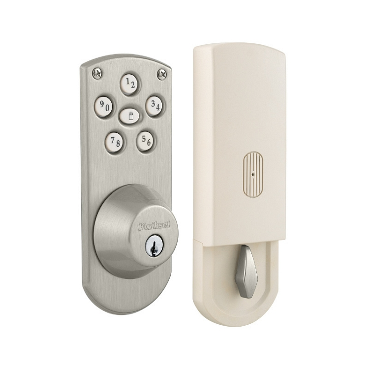 Kwikset Powerbolt Touchpad Satin Nickel
