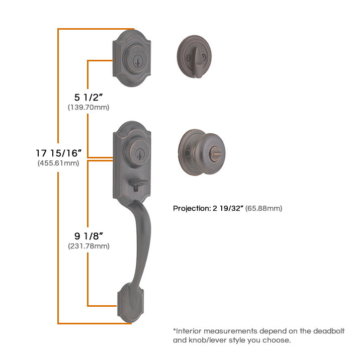 Kwikset Montara Two Point Handleset