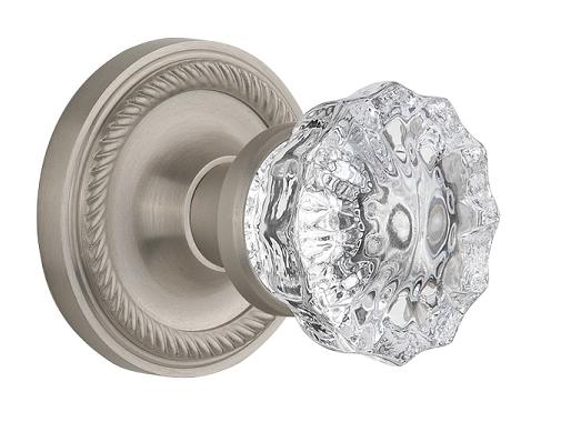 Crystal Door Knobs - Vintage Glass Style Doorknobs