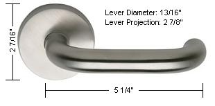 Omnia Style 10 Lever Dimensions