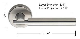 Omnia Style 25 Lever Dimensions