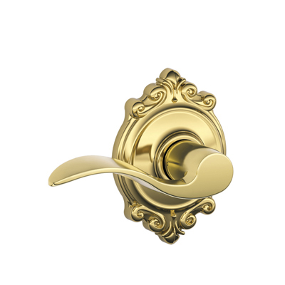 Schlage Accent Passage Lever With Brookshire Rosette