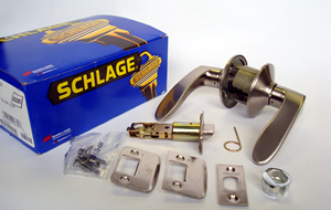 Schlage lever handles  Box Contents