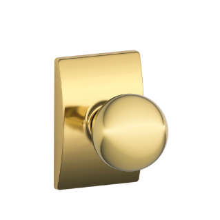 Schlage Bright Brass Orbit Knob