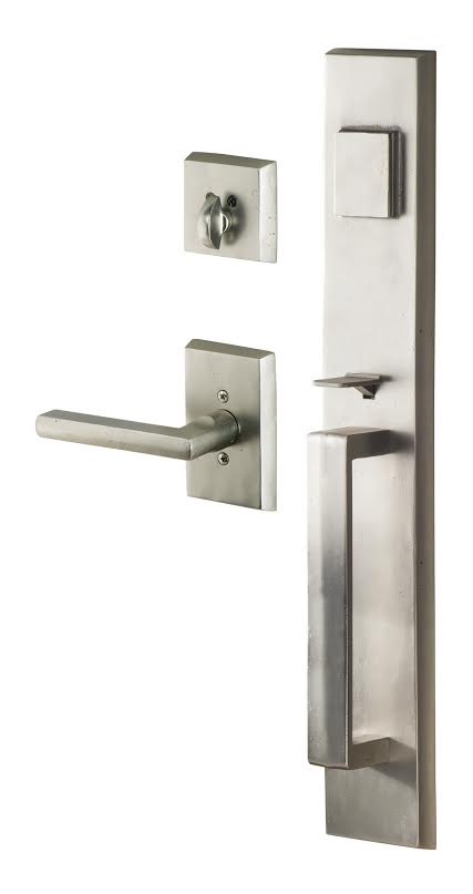 Door Handle with Full Backplate
