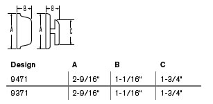 Weiser Deadbolt Measurements