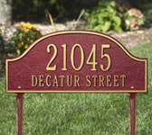 Admiral Address Plaques