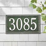 Egg and Dart Address Plaques