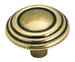 Amerock 1 1/4 Inch Burnished Brass Sterling Traditions Cabinet Knob