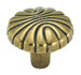 Amerock 1 7/32 Inch Burnished Brass Shell Cabinet Knob