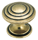 Amerock 1 1/4 Inch Burnished Brass Calm Pond Cabinet Knob