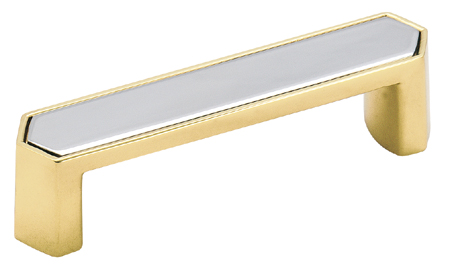 amerock 3 inch cc polished solid brass chrome cabinet pull