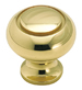 Amerock 1 1/4 Inch Polished Brass Solid Brass Cabinet Knob