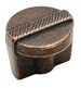 Amerock 1 1/4 Inch Rustic Bronze Forgings Etched Cabinet Knob