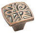 Amerock 1 1/8 Inch Weathered Copper Motif'z Element Cabinet Knob