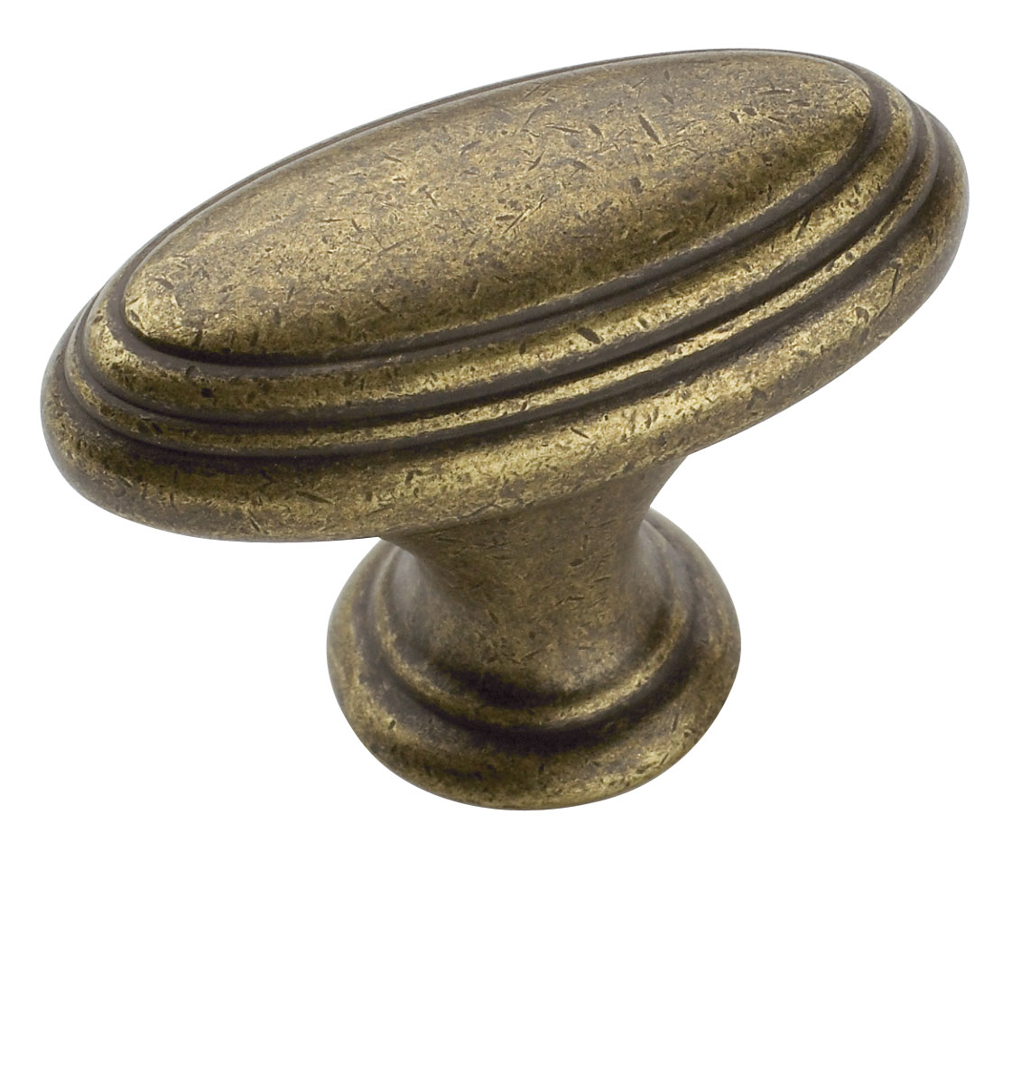 Amerock rustic brass mulholland cabinet knob for Furniture knobs