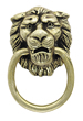 Amerock 1 3/8 Inch Antique Brass Classics Lion Head Ring Pull