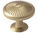 Amerock Crawford 1 3/8 Inch Cabinet Knob - Golden Champagne